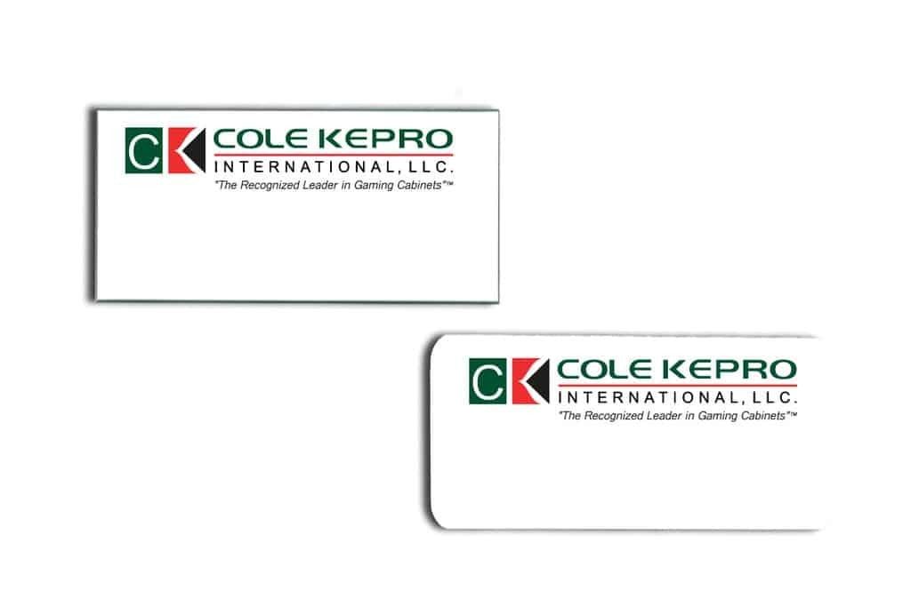 Cole Kepro Name Tags Badges