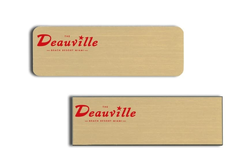 Deauville Beach Resort Name Tags Badges