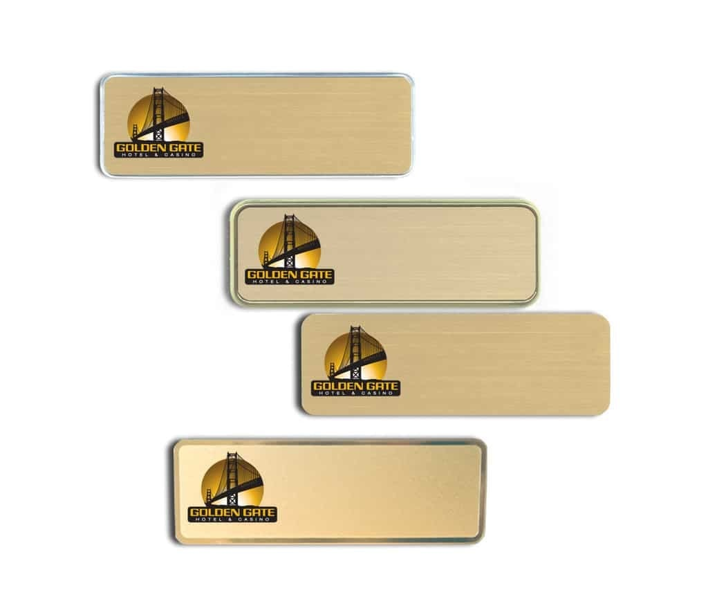 Golden Gate Hotel and Casino Name Tags Badges
