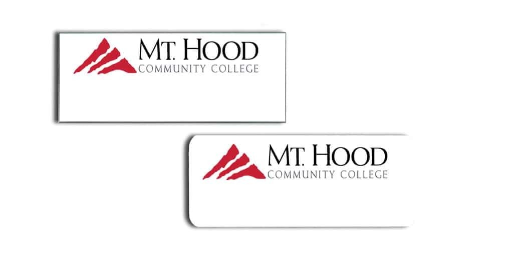 Mt Hood Community College Name Tags Badges