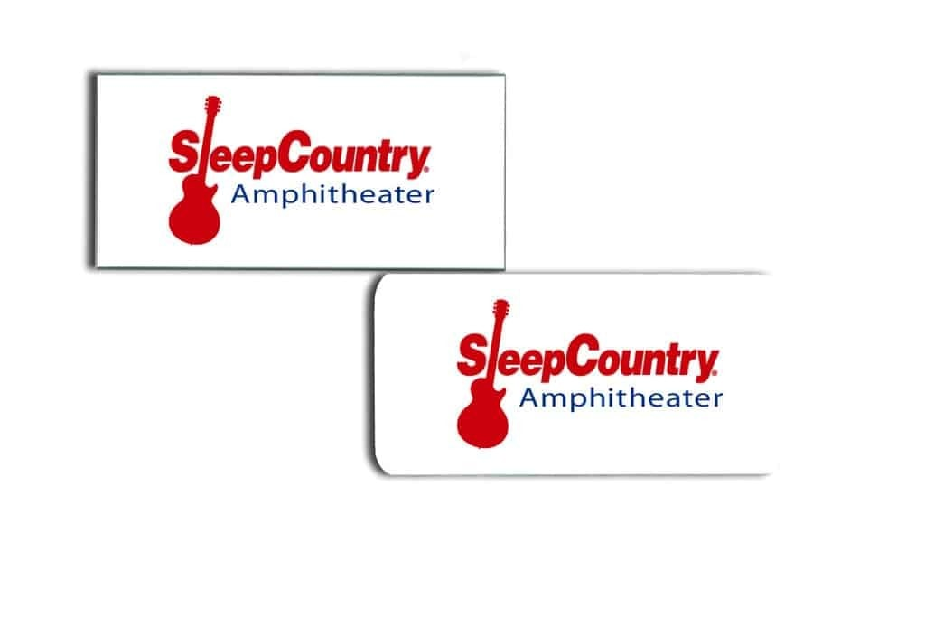 Sleep Country Amphitheater Name Tags Badges