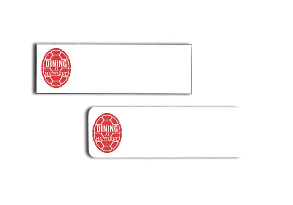 University of Maryland Dining Name Tags Badges