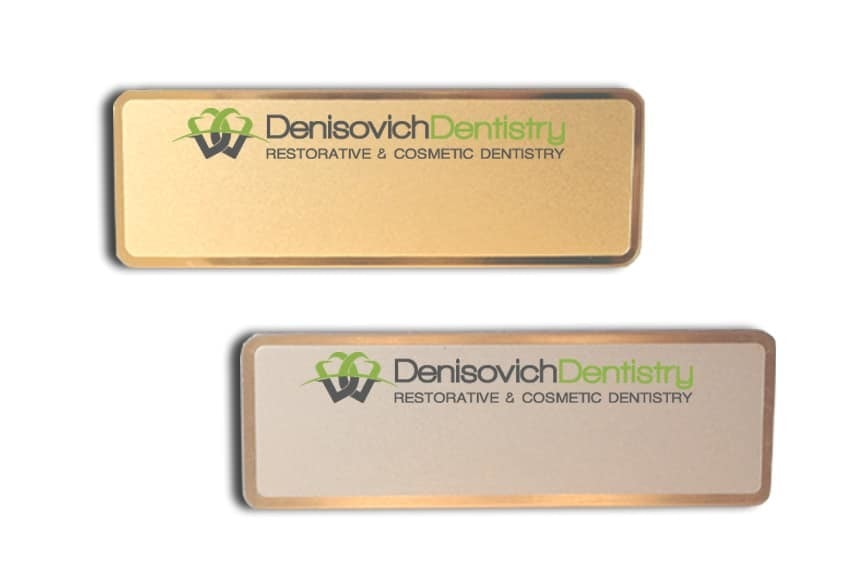 Denisovich Dentistry Name Tags Badges