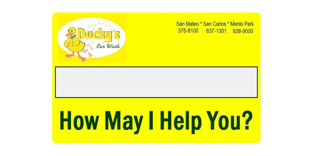 Ducky's Car Wash Name Tags Badges