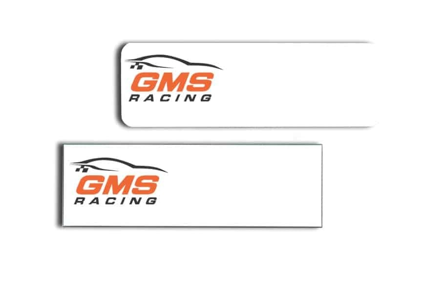 GMS Racing Name Tags Badges