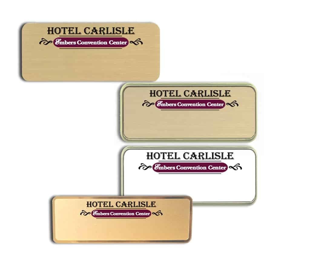 Hotel Carlisle Name Tags Badges