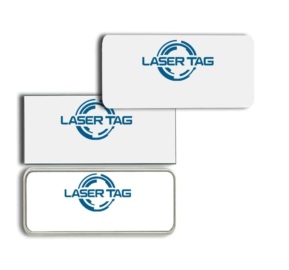 Laser Tag Name Tags Badges