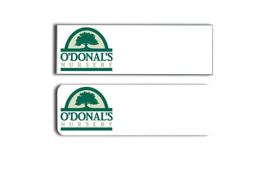 O'Donal's Nursery Name Tags Badges