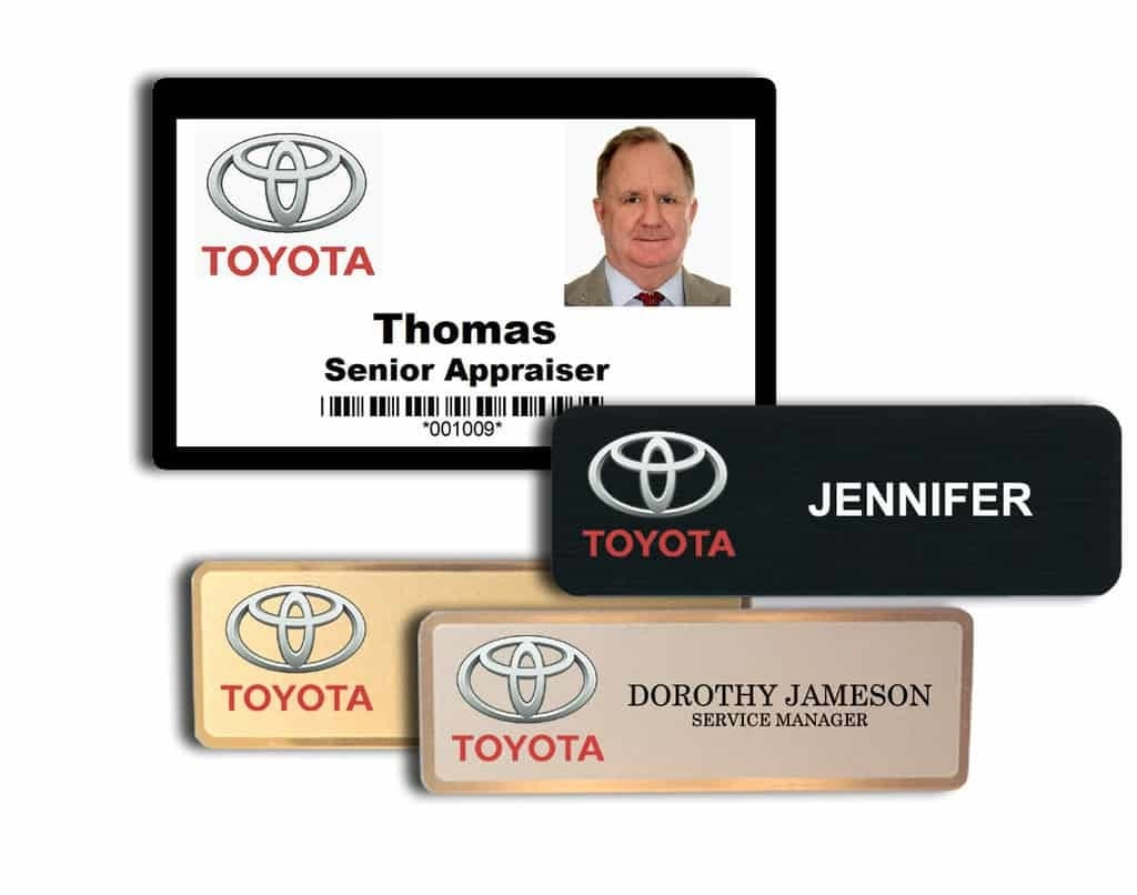 name tags for toyota auto dealers name badges