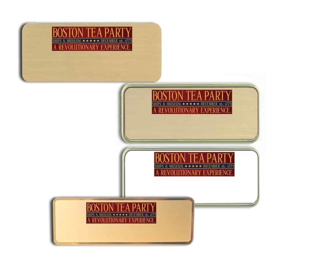 Boston Tea Party Name Tags Badges