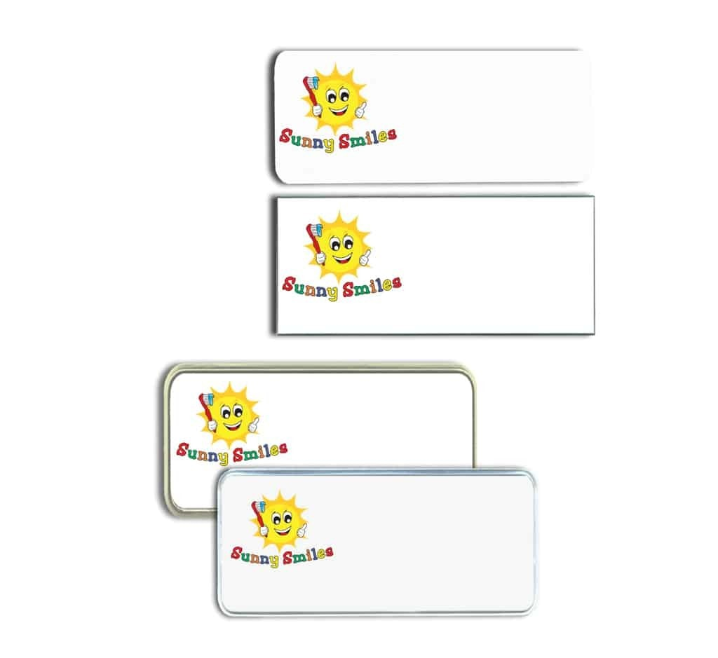 Sunny Smiles Dentistry Name Tags Badges
