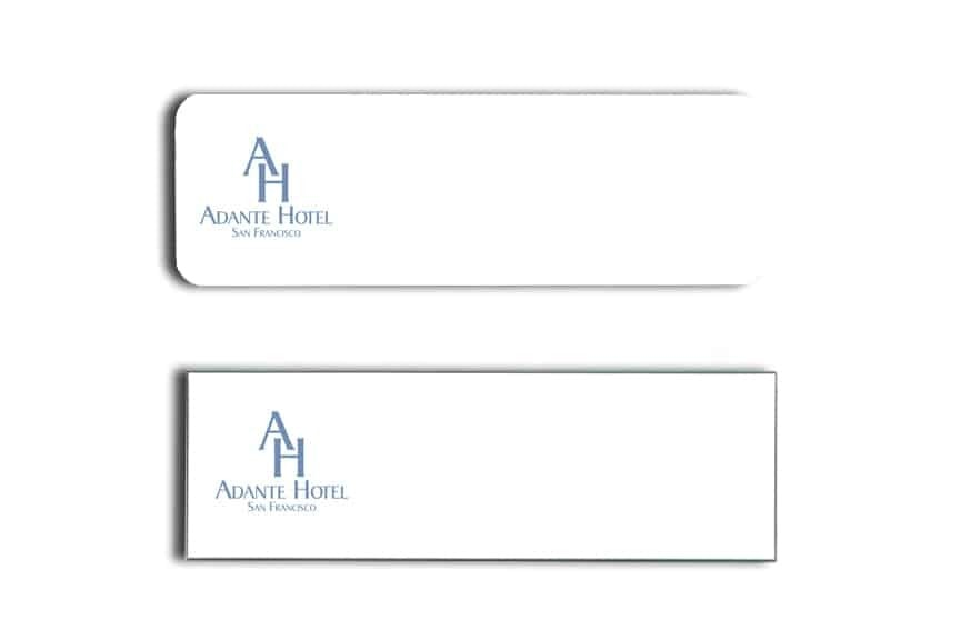 Adante Hotel Name Tags Badges