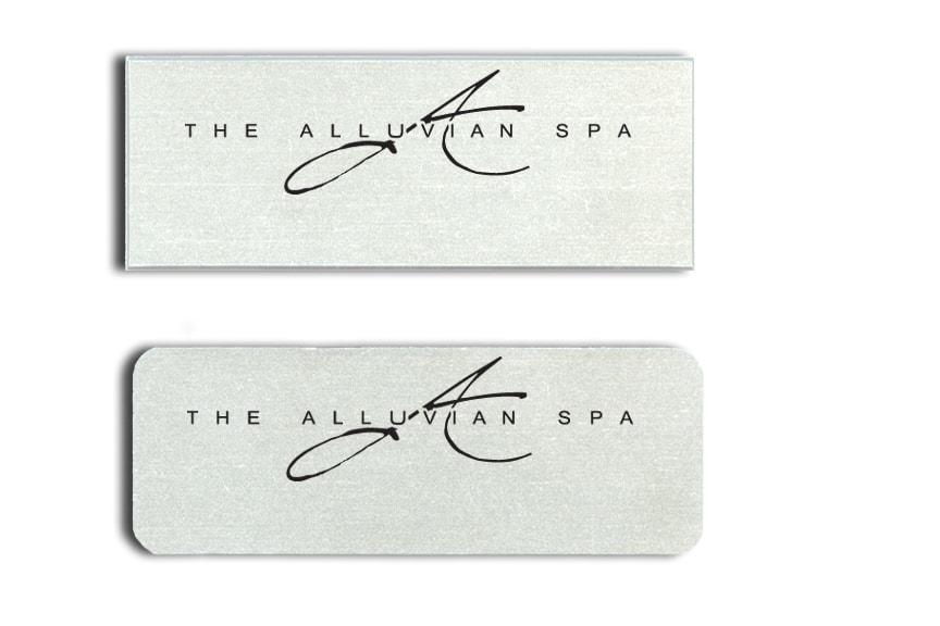 Alluvian Spa Name Tags Badges
