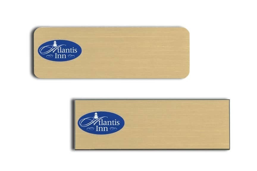 Atlantis Inn Name Tags Badges