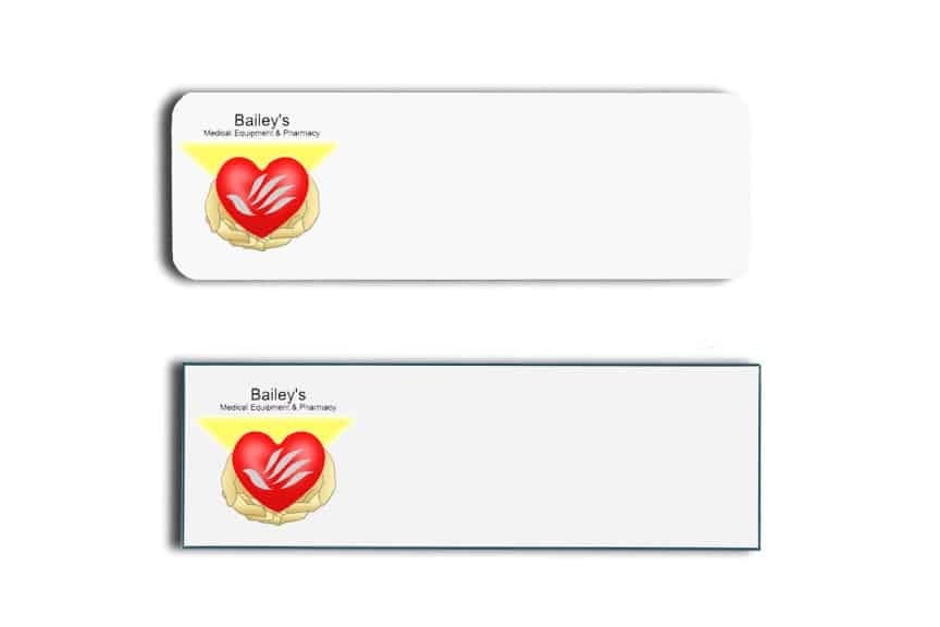Bailey's Medical Name Tags Badges