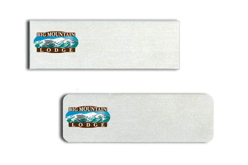 Big Mountain Lodge Name Tags Badges