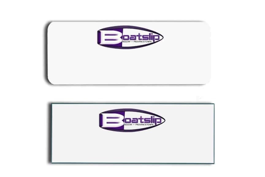 Boatslip Resort Name Tags Badges