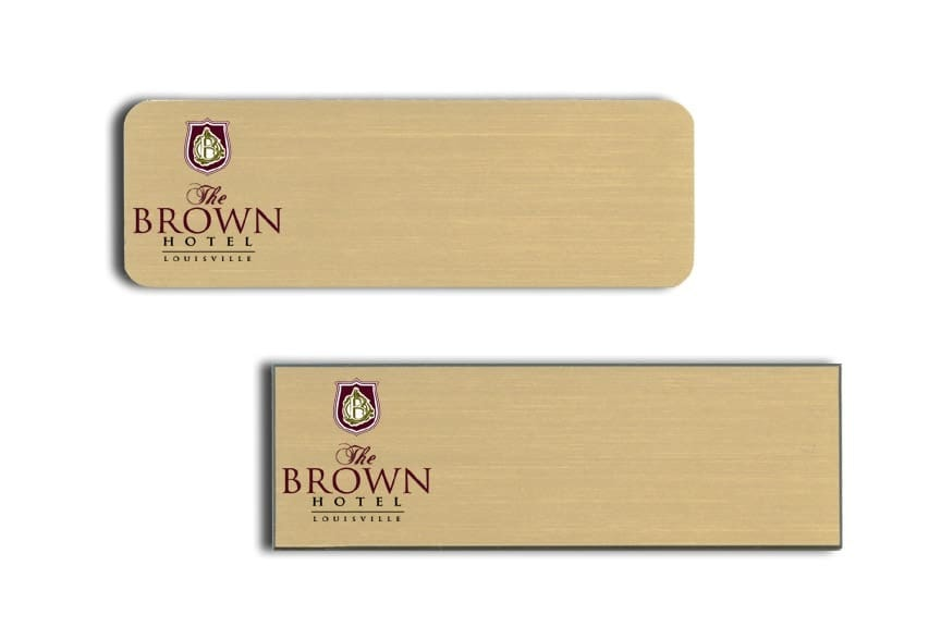 Brown Hotel Name Tags Badges