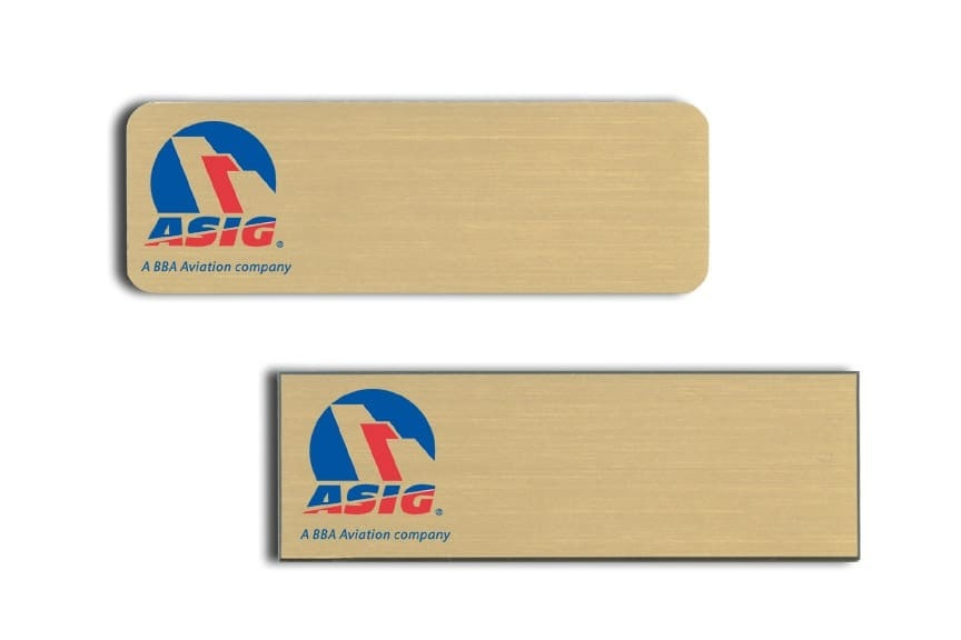 ASIG Name Tags Badges