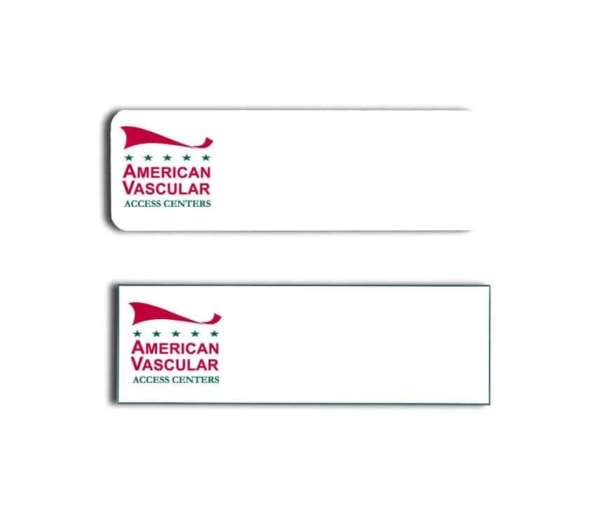 American Vascular Access Centers Name Tags Badges