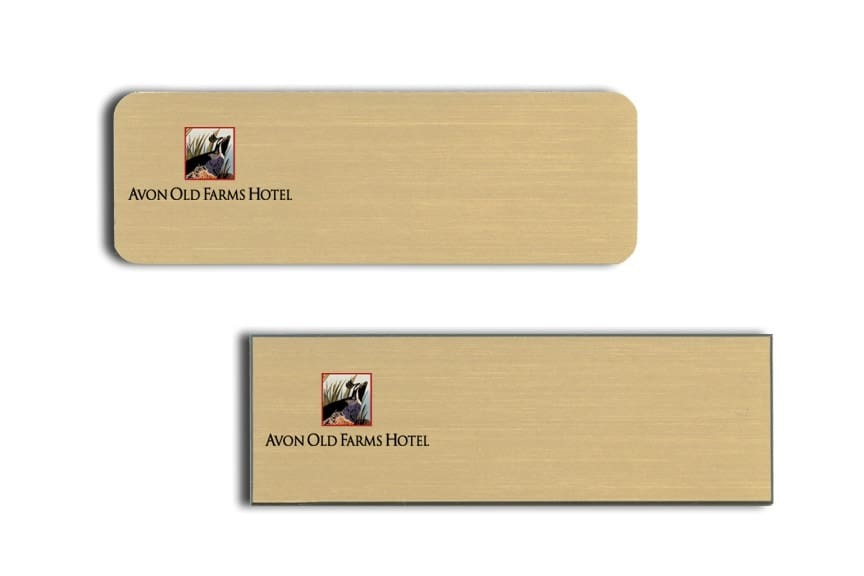 Avon Old Farms Hotel Name Tags Badges