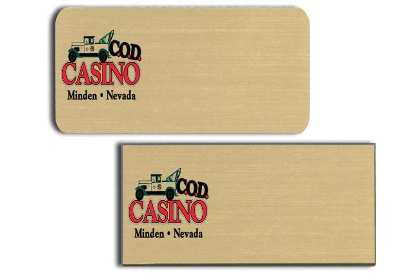 C.O.D. Casino Name Tags Badges