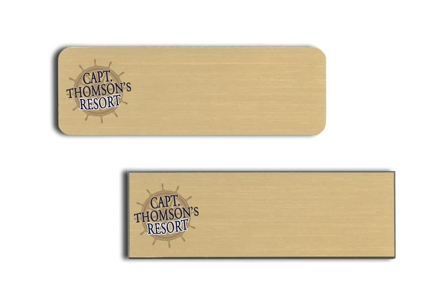Capt Thomsons Resort Name Tags Badges