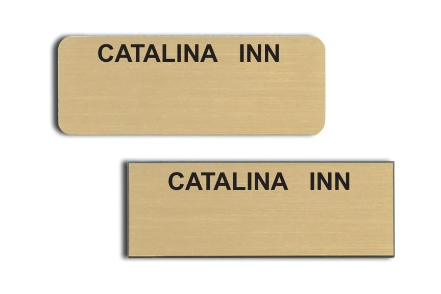 Catalina Inn Name Tags Badges
