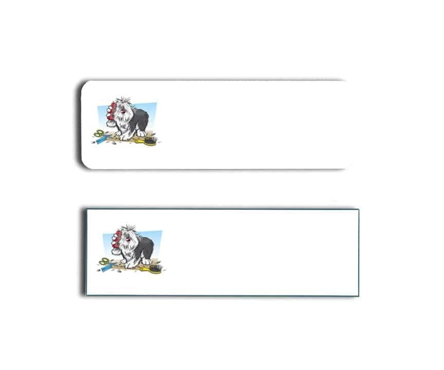 Clean Pooch Name Tags Badges