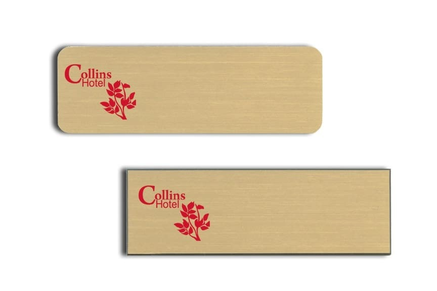 Collins Hotel Name Tags Badges