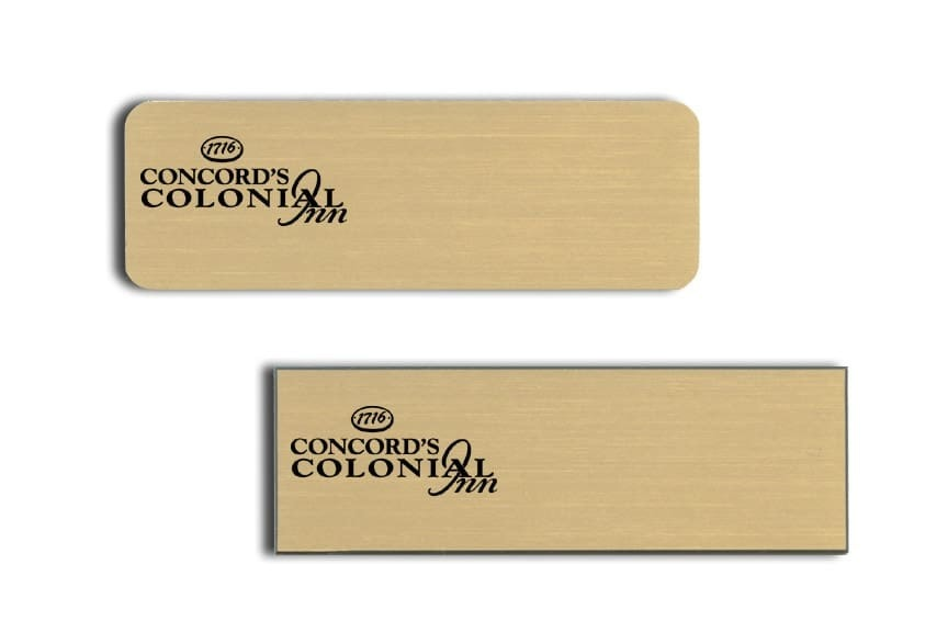 Concords Colonial Inn Name Tags Badges