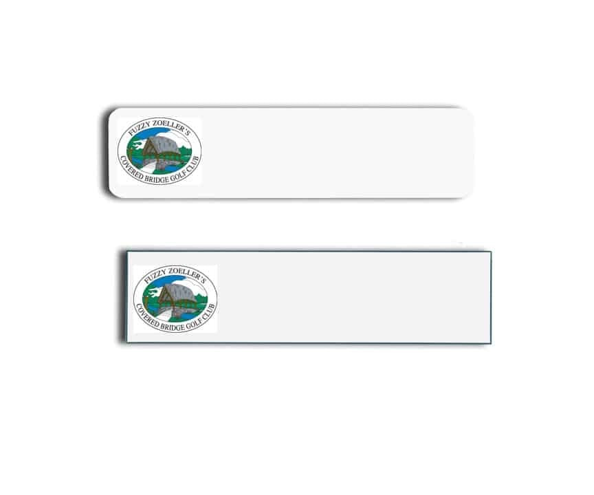Covered Bridge Golf Club Name Tags Badges