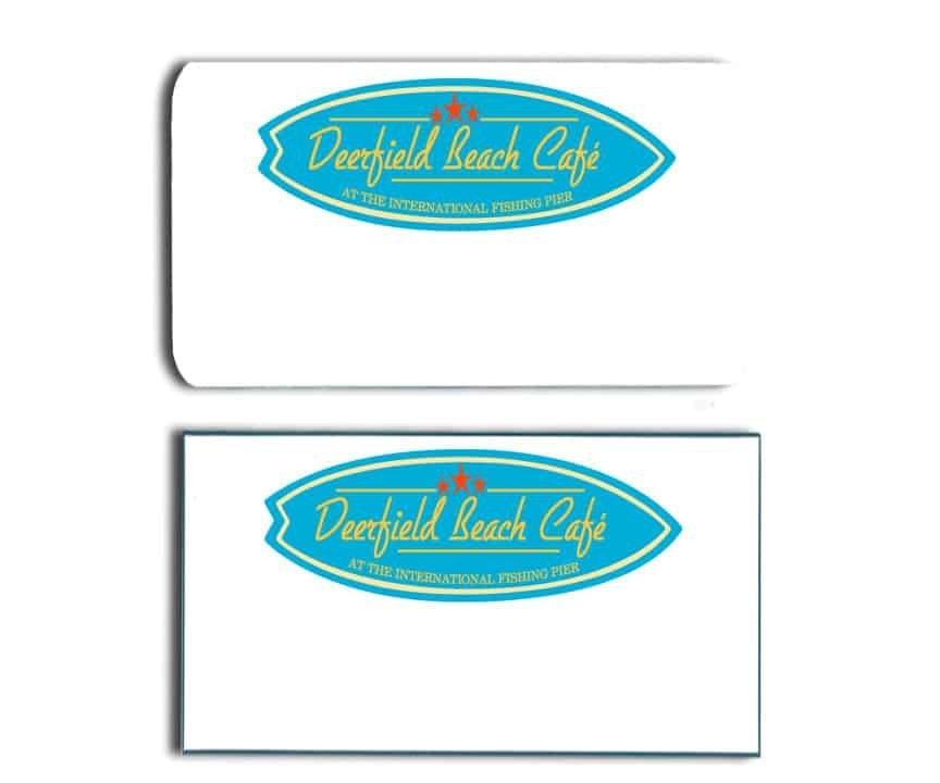 Deerfield Beach Cafe Name Tags Badges