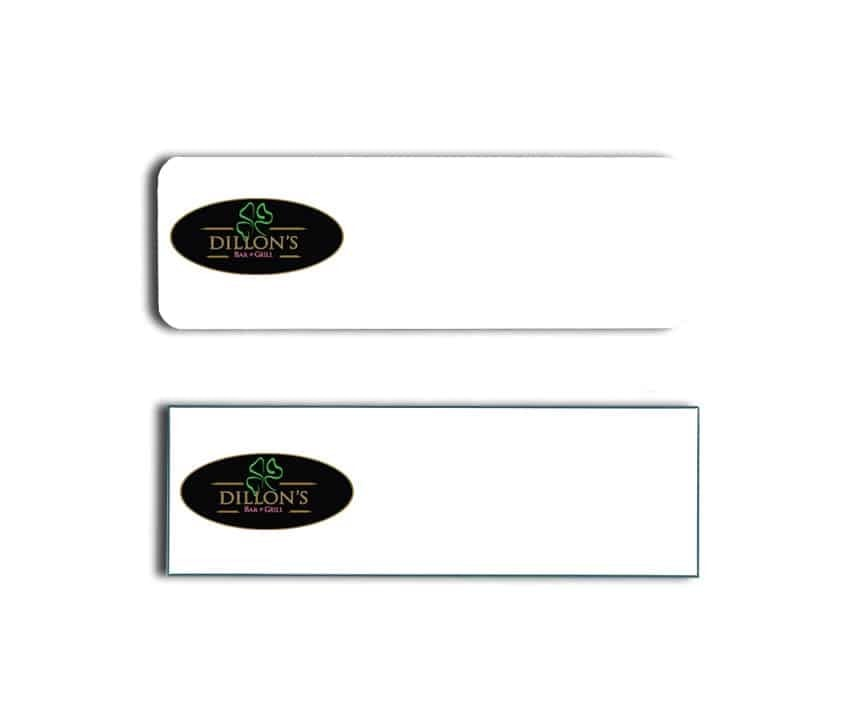 Dillon's Bar and Grill Name Tags Badges