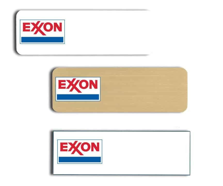 Exxon Name Tags Badges