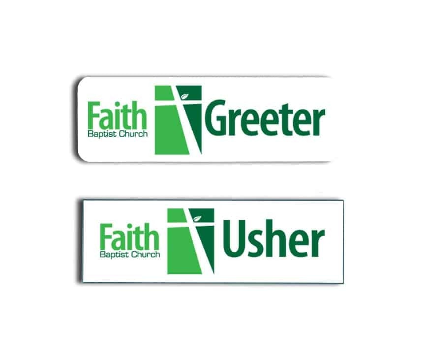 Faith Baptist Greeter and Usher Name Tags Badges