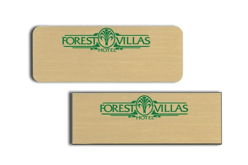 Forest Villas Hotel Name Tags Badges