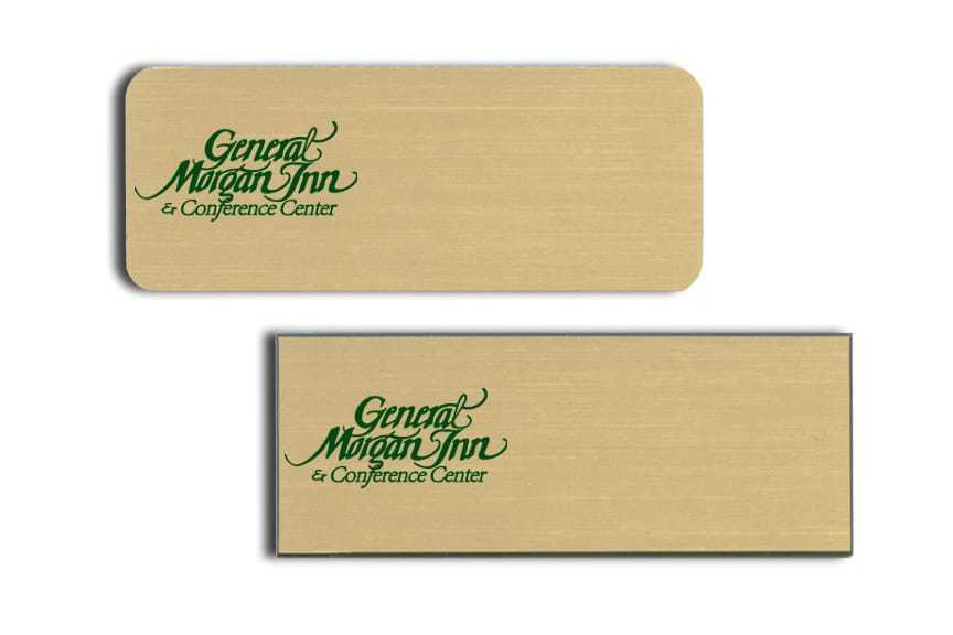 General Morgan Inn Name Tags Badges