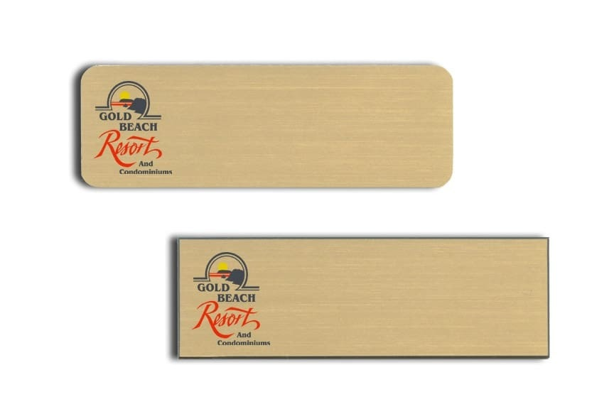 Gold Beach Resort Name Tags Badges