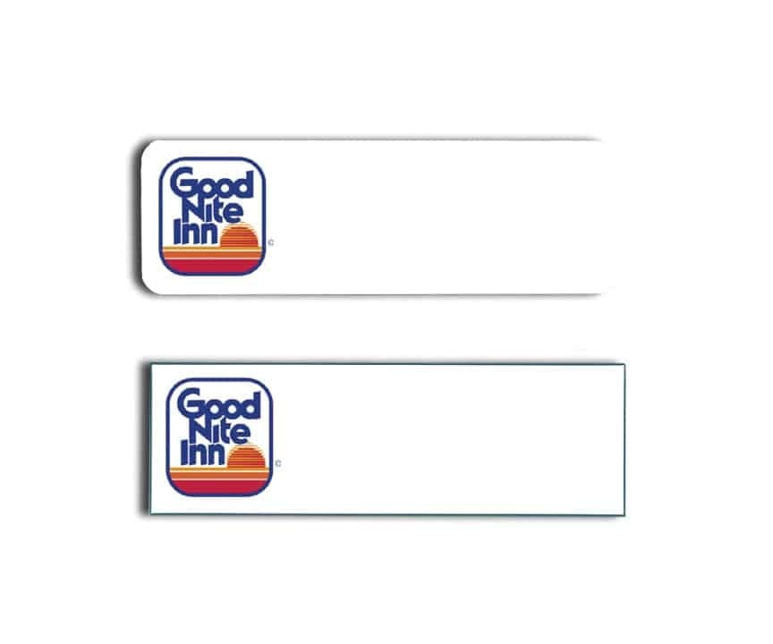 Good Nite Inn Name Tags Badges