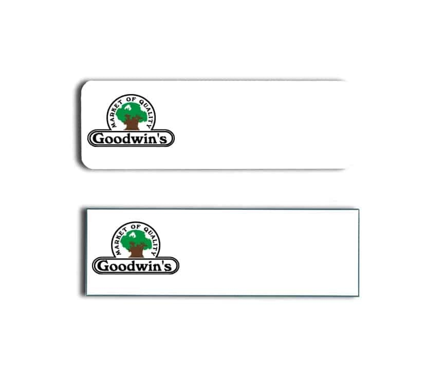 Goodwins Market Name Tags Badges
