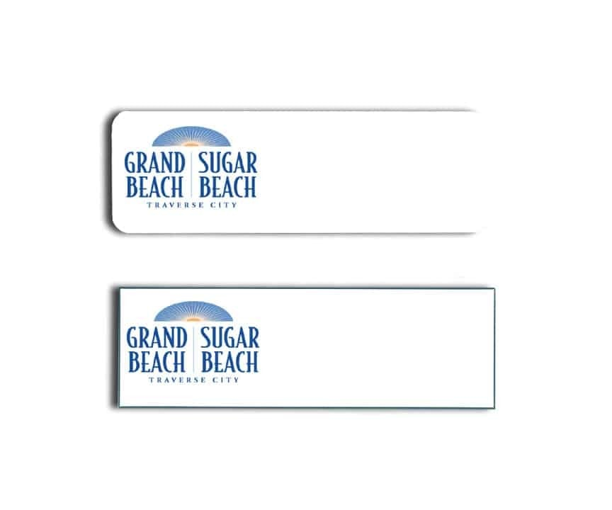 Grand Beach Sugar Beach Name Tags Badges