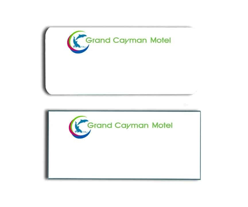 Grand Cayman Motel Name Tags Badges