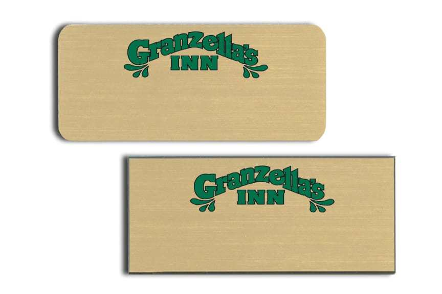 Granzellas Inn Name Tags Badges