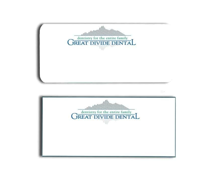 Great Divide Dental Name Tags Badges