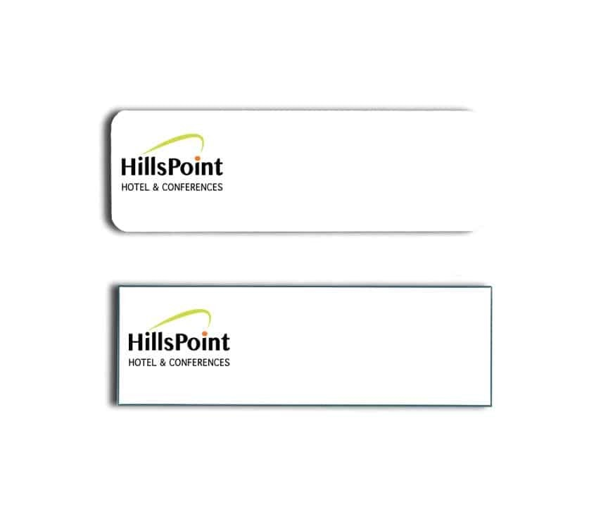Hills Point Hotel Name Tags Badges