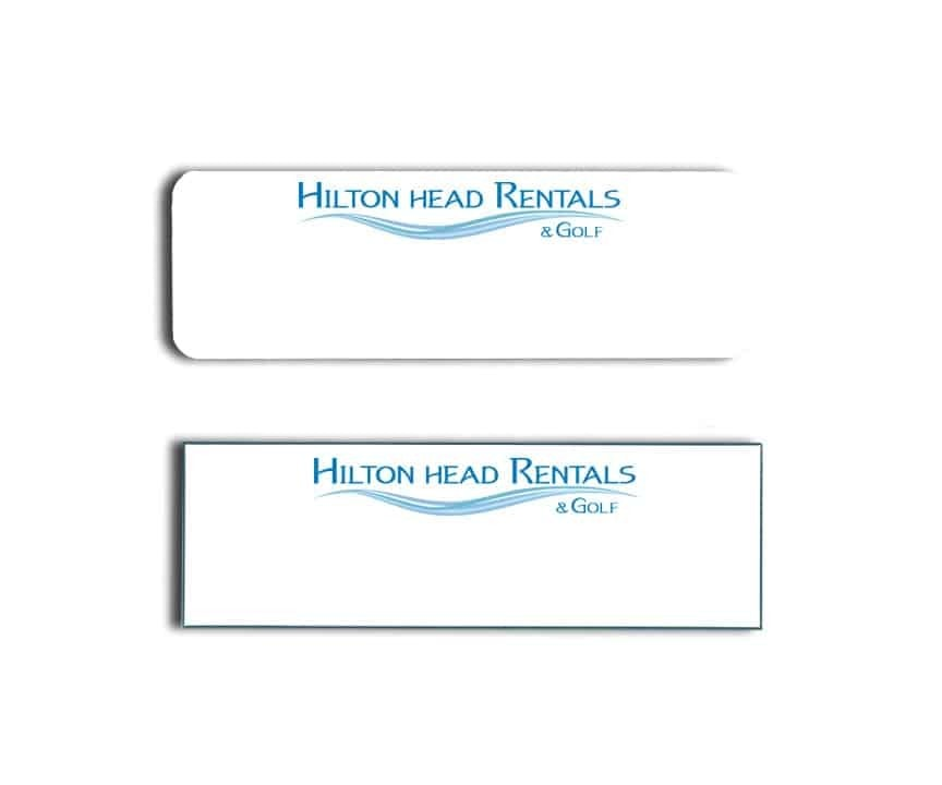 Hilton Head Rentals and Golf Name Tags Badges