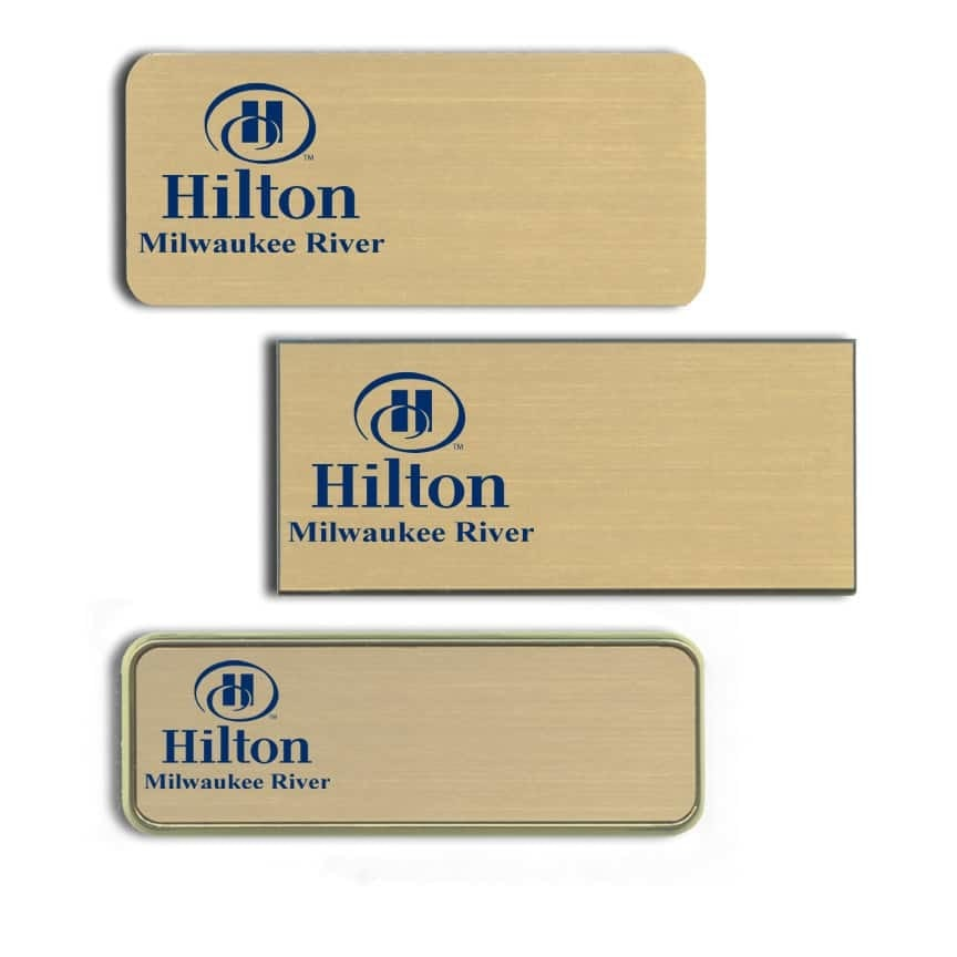 Hilton Milwaukee River Name Tags Badges