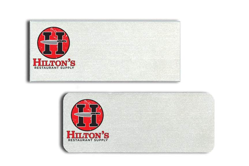 Hilton's Restaurant Supply Name Tags Badges