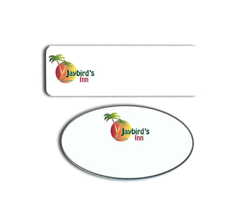 Jaybird's Inn Name Tags Badges